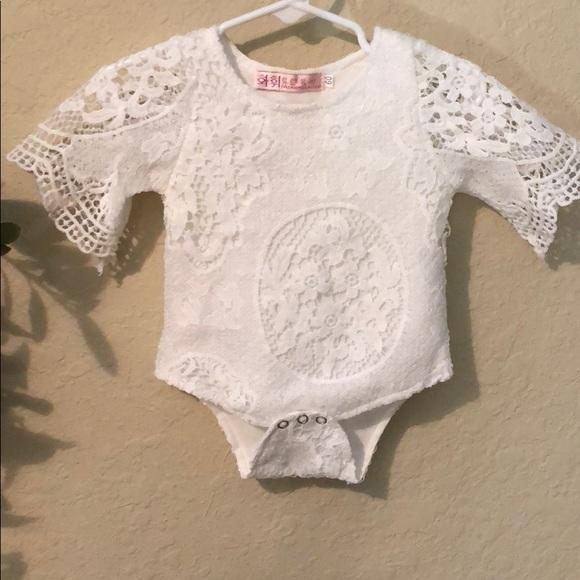 e2ae0b6b5 White lace onesie. M_5b512a37d365be353b588451
